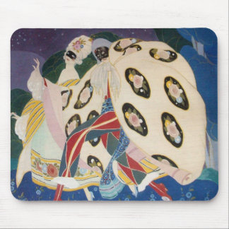 NOCTURNE WITH MASKS / Venetian Masquerade Mouse Pad