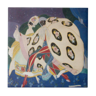 NOCTURNE WITH MASKS / Venetian Masquerade Tile