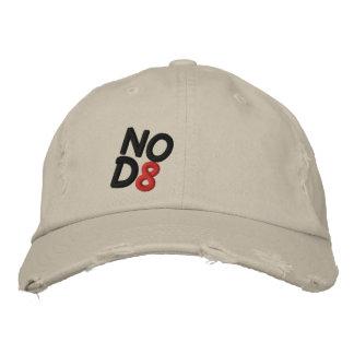 NOD8 Distressed chino embroidered cap Baseball Cap