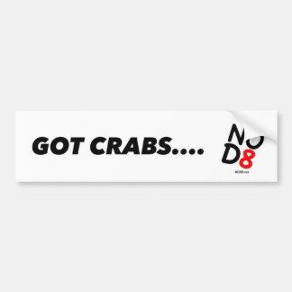 NOD8 - Got Crabs! Car Bumper Sticker