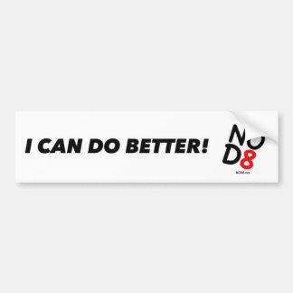 NOD8 - ¡Puedo hacer mejor Pegatina para el parach Pegatina De Parachoque
