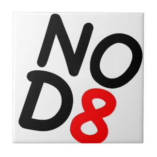 NOD8 Satirical Gifts Small Square Tile