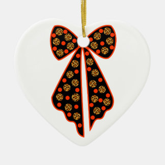 node with pea leopard ceramic ornament