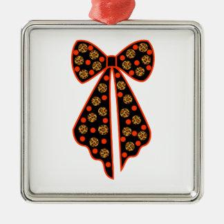 node with pea leopard metal ornament