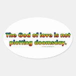 NoDoomsday Oval Sticker