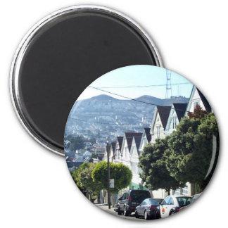 Noe Valley, San Francisco, CA 2 Inch Round Magnet