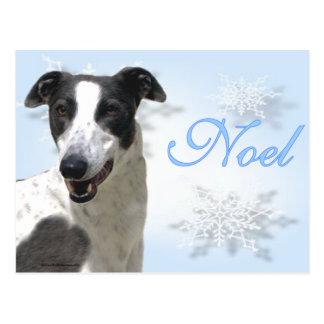 Noel2 negro y blanco del galgo postal