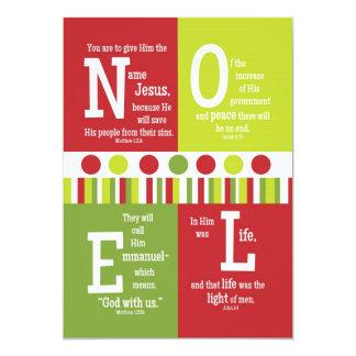 NOEL 2-Sided Scripture Verse Christmas Card Invites