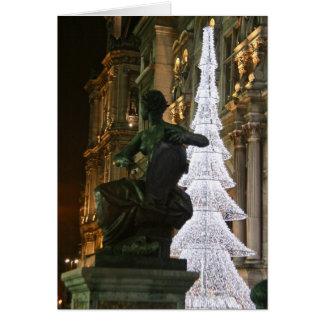 Nöel à Paris III - Hotel de Ville Greeting Cards