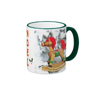 Noel Angel Rocking Horse Christmas Mug