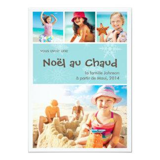 Noël au Chaud 4 carte de photo de vacances 5x7 Paper Invitation Card