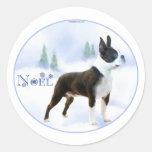 Noel Boston Terrier Stickers