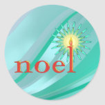 NOEL & CANDLE by SHARON SHARPE Sticker