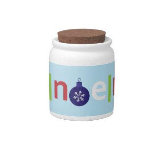 Noel Candy Jar
