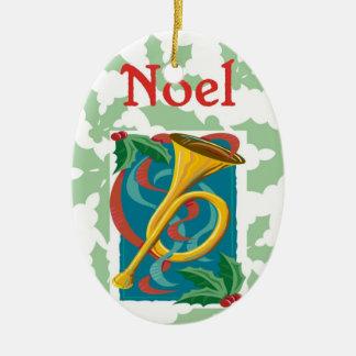 Noel Ceramic Ornament