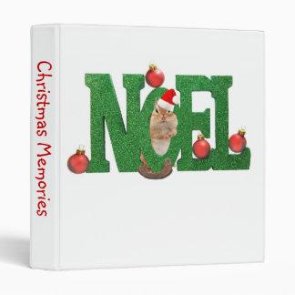 """Noël Chipmunk 1"""" Photo Album 3 Ring Binder"""