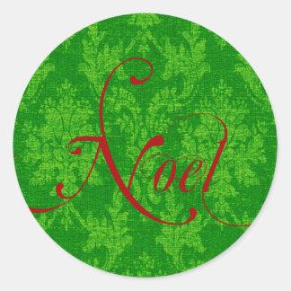 Noel Christmas Classic Round Sticker