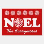 NOEL Christmas Custom Family Name Snowflakes V02 Signs