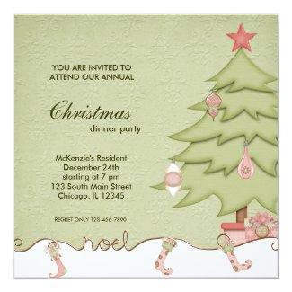 Noel Christmas Dinner Invitation