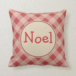 Noel Christmas Gingham  Pillow