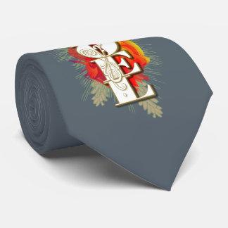 Noel Christmas Greeting Tie