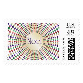 Noel Christmas Lights Design Stamp
