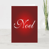 Noel Christmas Message Red White Holidays Colors Holiday Card