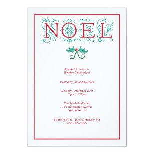 Noel Christmas Invitations Zazzle