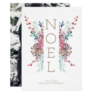 Noel Christmas Photo Personalized Winter Invitation