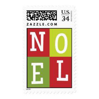 NOEL Christmas Postcard Postage Stamp