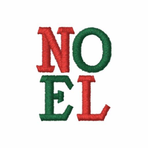 NOEL del navidad del arte pop Sudadera Bordada Con Serigrafía