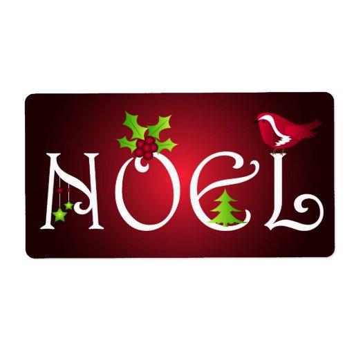 Noel - etiqueta etiqueta de envío