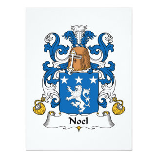 Noel Family Crest 6.5x8.75 Paper Invitation Card