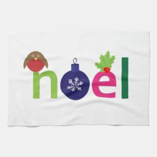 Noel festivo toalla de cocina