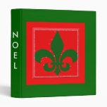 Noel Fleur de Lis Holiday Memories Binder