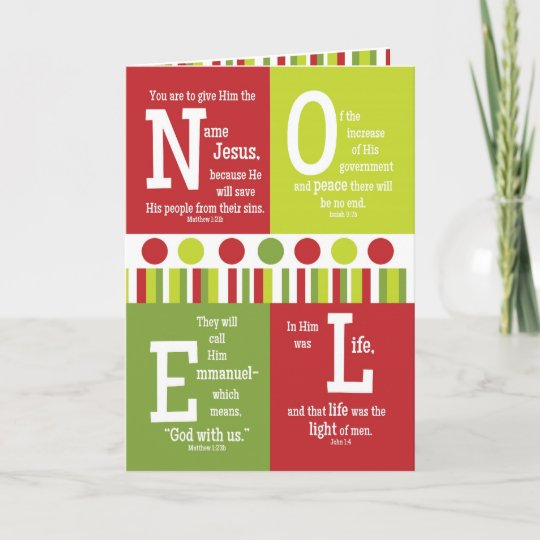 noel folded scripture christmas card blank inside holiday card - Christmas Card Scripture