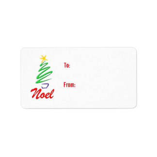Noel gift tags address label