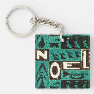 Noel Green Single-Sided Square Acrylic Keychain