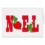 Noel Heart Cute Alligator Card on white