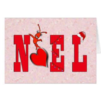 Noel Heart Cute Crawfish/Lobster Card