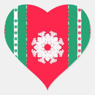 noel heart sticker