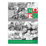 NOEL Holiday 5x7 Flat Card Personalized Invitation