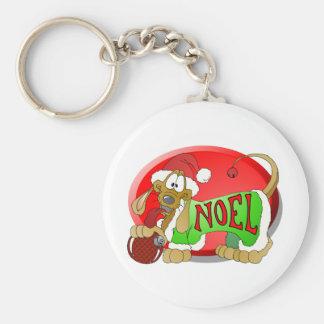 NOEL Hotdog Keychain