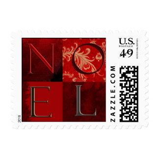 NOEL in red squares Postage