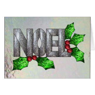 Noel in Stained Glass Card