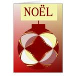 NOEL  in warm colors Card