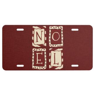 Noel License Plate
