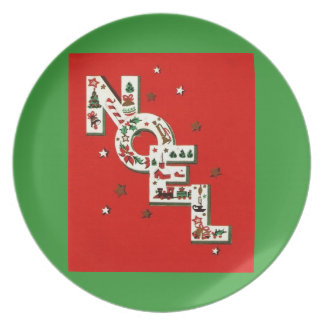 Noel Merry Christmas Plate