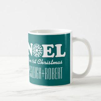 NOEL Our First Christmas V03 GREEN Coffee Mug