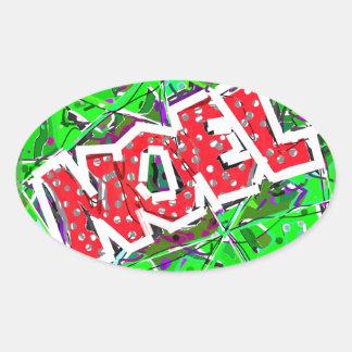NOEL. OVAL STICKER